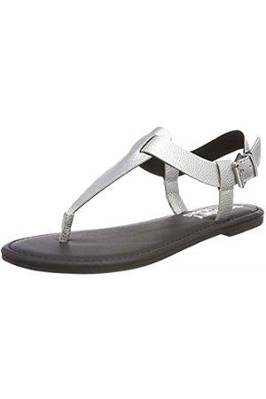 Tommy Hilfiger Women's Shiny Metallic Flat Sandal Flip Flops, ( 000)