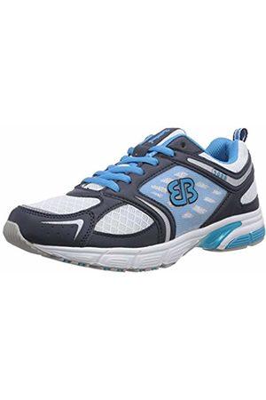 Bruetting Women's Lady Speed Running Shoes Weiß (Weiss/Marine/Tuerkis) 5