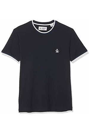 Original Penguin Men's Sticker Pete Ringer T-Shirt, (Dark Sapphire)