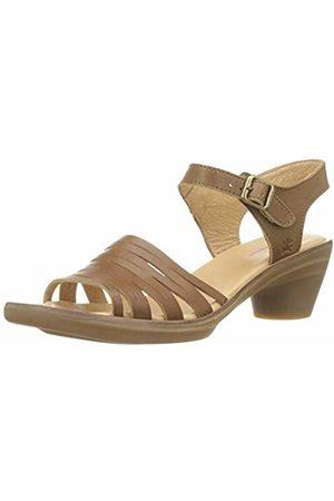 El Naturalista Women Heels - Women's N5352 Vaquetilla Caramel/Aqua Closed Toe Heels