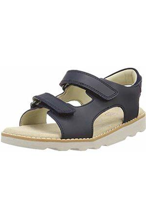 Clarks Boys' Crown Root K Sling Back Sandals, (Navy Leather-)
