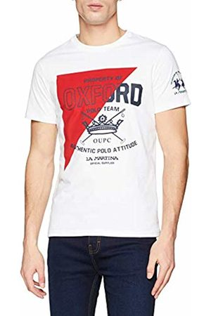 La Martina Men's's Man T-Shirt S/s Kniited Tank Top, (Optic 00001)