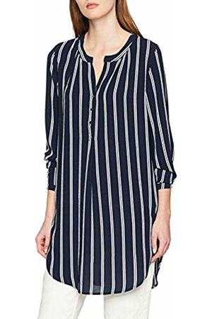 ONLY NOS Women's Onlwinner Tunic WVN Blouse (Night Sky Stripes: Withcloud Dancer) 12 (Size: 38)