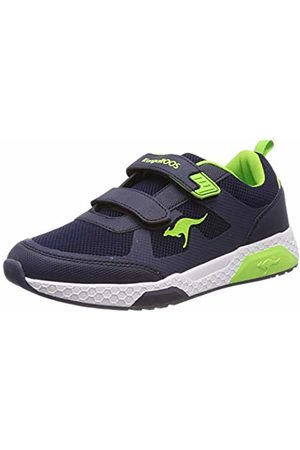 KangaROOS Kids' Kadee Melt V Trainers Blau (Dk Navy/Lime 4054) 5 UK