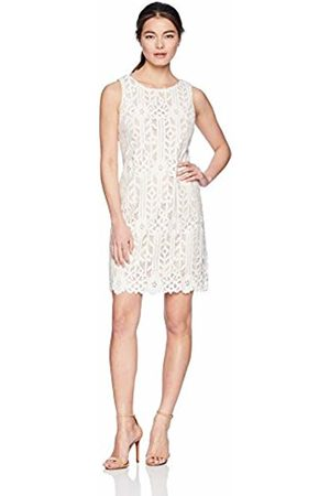 UNKNOWN Jessica Howard Women's Petite Sleeveless Lace Shift Dress Ivory/