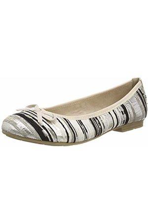 Jana Women's's 8-8-22109-22 Ballet Flats Stripe 935