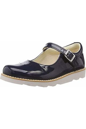Clarks Girls' Crown Jump K Loafers, (Navy Patent-)
