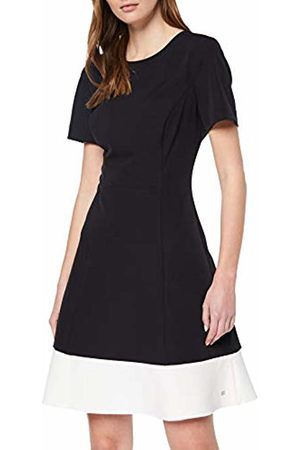 bce38e3b68 Tommy Hilfiger Women s Angela C-NK CLRBLOCK Dress SS Schwarz ( Beauty ...