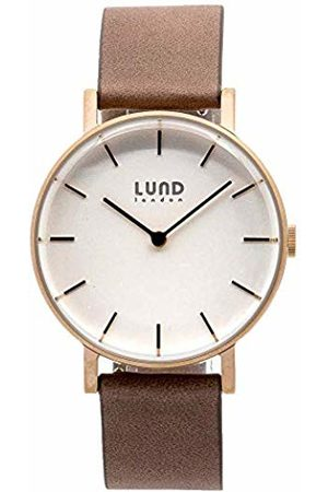 Lund London Unisex Adult Analogue Classic Quartz Watch with Leather Strap 9039