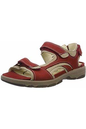 Waldläufer Women's Herki Sling Back Sandals, (Denver Cherry Corda 988)