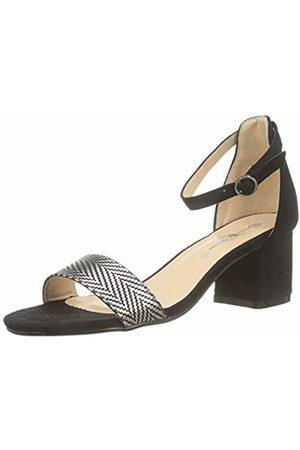 The Divine Factory Women's's Natalia Ankle Strap Sandals (Noir 001) 4 UK