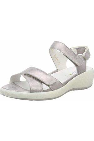 Waldläufer Women's's H-Tanja Sling Back Sandals (Foil Grau 003) 3.5 UK