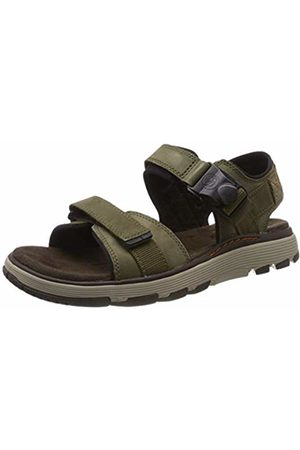 Clarks Men's's Un Trek Part Sling Back Sandals (Dark Olive Nubuck -) 9 UK