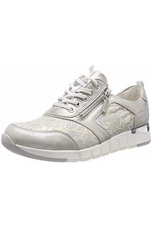 Waldläufer Women's's H-Petra Low-Top Sneakers (Eclis Blossom Silber Grau 345) 6 UK