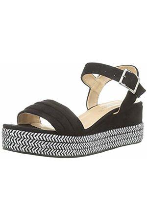The Divine Factory Women's Viviana Sling Back Sandals (Noir 001) 4 UK