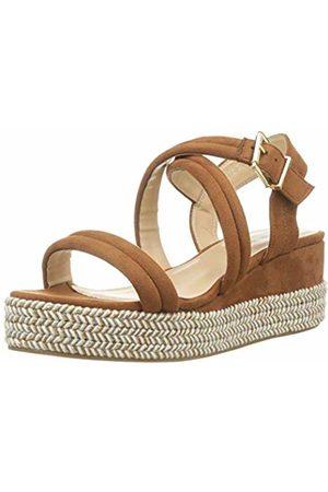 The Divine Factory Women's's Romana Sling Back Sandals (Camel 004) 5 UK