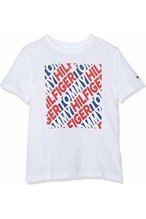 Tommy Hilfiger Boy's Fashion Bold Block Print Tee S/s T-Shirt, (Bright 123)