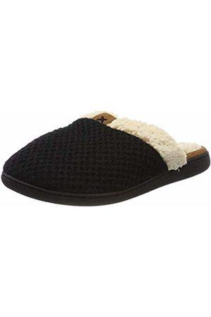 Dearfoams Women's Textured Knit Closed Toe Scuff Open Back Slippers, ( 00001)