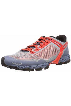 Salewa Women's's WS LITE Train K Trail Running Shoes Blau ( Fog/Fluo Coral 346)