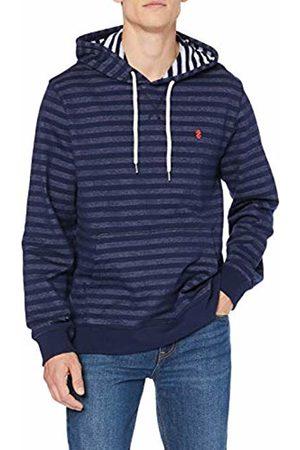 Izod Men's Stripe French Terry Zip Hoodie Blau (Peacoat 403)