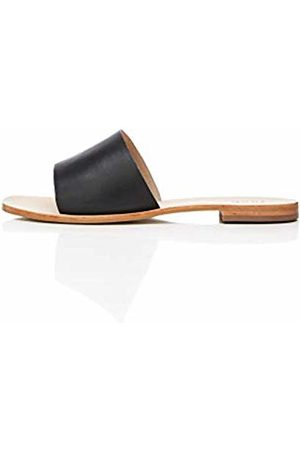 FIND Simple Slide Leather Open-Toe Sandals, )