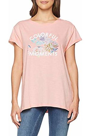 Timezone Women's's Printed Basic T-Shirt (Lotus Rose 5041)