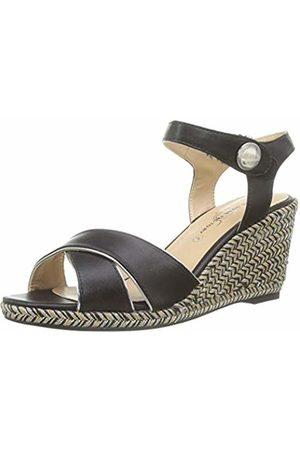 The Divine Factory Women's's Sabrina Open Toe Sandals (Noir 001) 5.5 UK