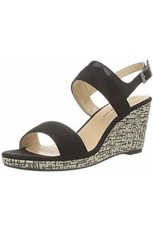 The Divine Factory Women's's Gessica Sandals (Noir 001) 5.5 UK