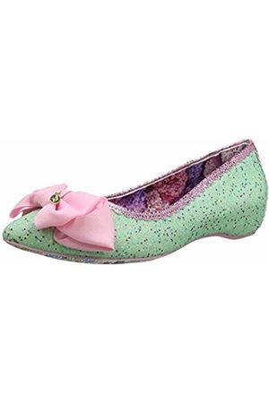 Irregular Choice Women's Slice Closed Toe Ballet Flats (Mint C) 6 (39 EU)