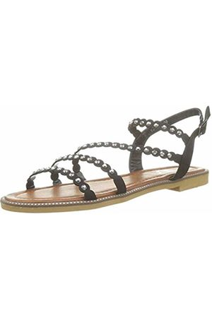 The Divine Factory Women's's Tessa Sling Back Sandals (Noir 001) 6.5 UK