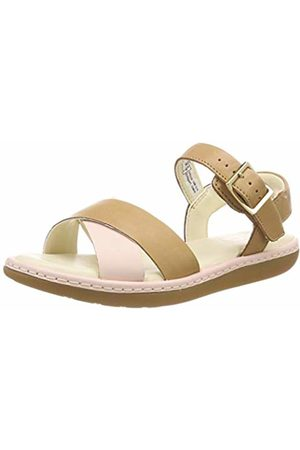 Clarks Girls'' Skylark Pure K Sling Back Sandals (Tan Combi Leather -) 12.5 UK