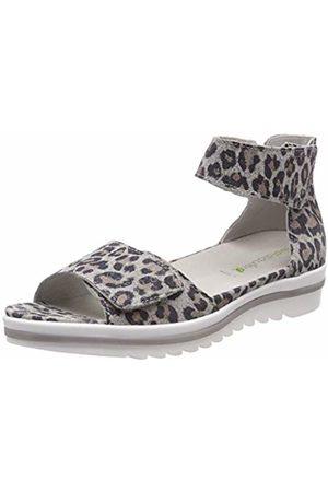 Waldläufer Women's's Hakura Ankle Strap Sandals (Leofiore Grau 003) 7 UK
