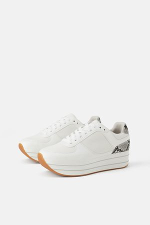 Zara Platform Sneakers White Coupon For Eacb5 A0b96