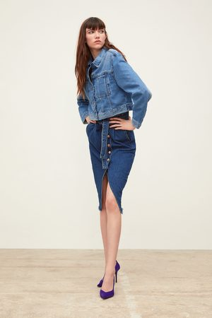 Zara Cropped denim jacket