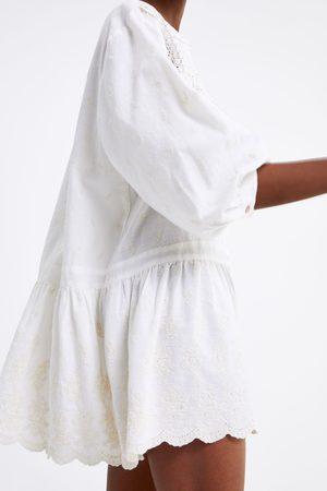 ee602e5b4f6 Zara embroidered women s dresses