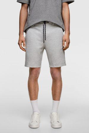 Zara Contrast piqué bermuda shorts