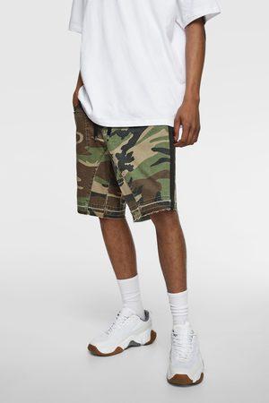 Zara Camouflage print bermuda shorts with trims
