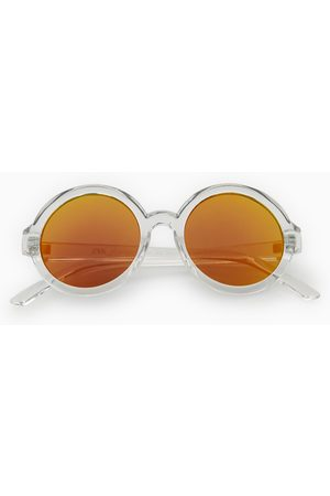 Zara Round transparent sunglasses