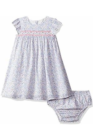 Mothercare Baby Girls' Blue Ditsy Smock Dress and Bloomer Set ( 130)