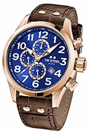 TW steel Unisex Adult Chronograph Quartz Watch with Leather Strap VS83