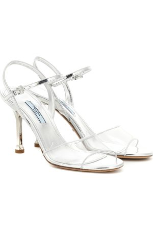 Prada Leather and PVC sandals