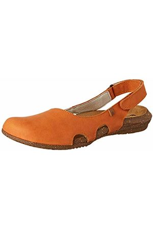 El Naturalista Women's N413 Pleasant Carrot/Wakataua Closed Toe Sandals