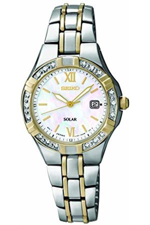 Seiko Womens Analogue Classic Solar Powered Watch with Stainless Steel Strap SUT068P9