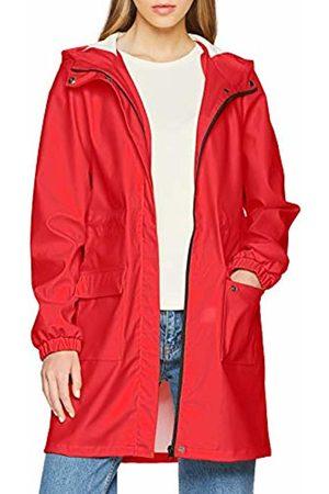Pieces Women's PCBOBBI Raincoat Rain Jacket, Rot Aura