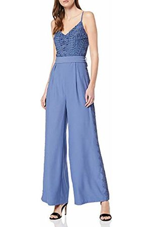 Little Mistress Women's Tamsin Crochet Top Jumpsuit Hydrangea 001