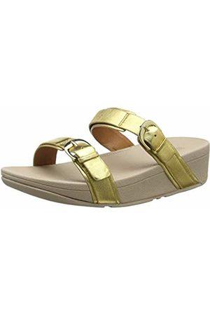 FitFlop Women's Buckle Strap Zoe Slide Open Toe Sandals, (Artisan 667)