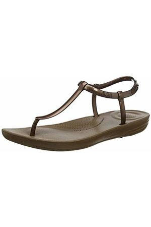 FitFlop Women's Iqushion Metallic Splash-Pearlised Flip Flops