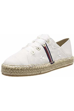 Tommy Hilfiger Women's Flat Espadrille Corporate Ribbon Weiß (Whisper 121)
