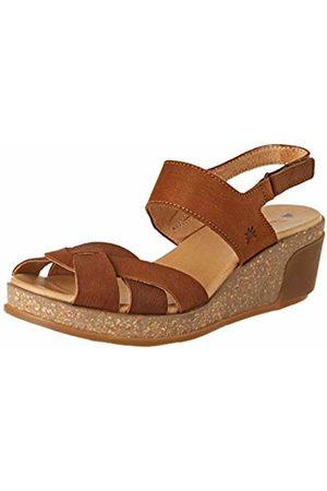 El Naturalista Women's N5008 Pleasant Wood/Leaves Sling Back Sandals