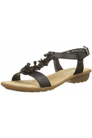 Rieker Women's's V3446 Closed Toe Sandals (Schwarz 00) 6.5 UK